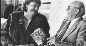 Maeve Binchy  with her husband, Gordon Snell. Photograph: Joe St Leger / THE IRISH TIMES
