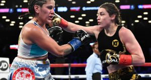 Katie Taylor takes on Victoria Bustos, at the Barclays Centre, Brooklyn, New York, US. Photograph: ©INPHO/Matt Heasley