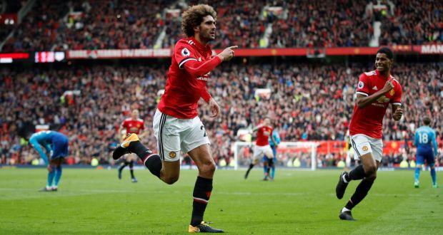 Marouane Fellaini header beats makeshift Arsenal