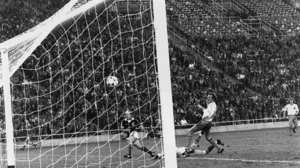 Archie Gemmill scores 'that' goal against Holland. Photograph: Hulton Archive/Getty Images