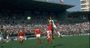 Austria beat Algeria 2-0 in Oviedo in the 1982 World Cup. Photograph: Allsport