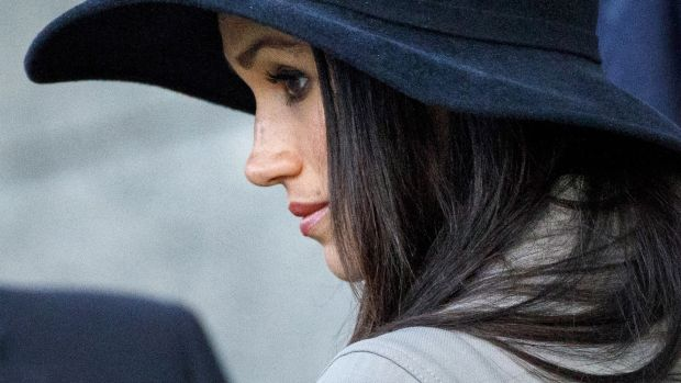 'Meghan Markle is very considered in her choice of what she wears, and understands the soft power fashion can have': Meghan Markle attends an Anzac Day service. Photograph: Tolga Akmen, Getty Images