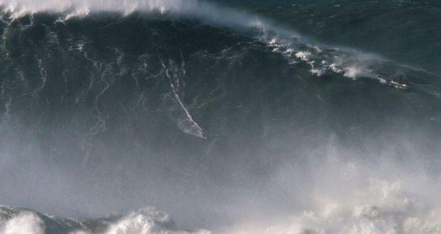 Brazilian Surfer Rides World Record Wave In Portugal