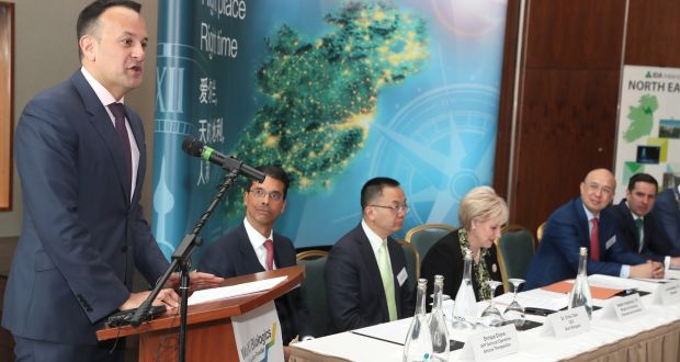 Taoiseach Leo Varadkar at the announcement of WuXi Biologics' plans for a  facility  in Dundalk