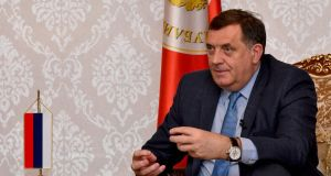 "Milorad Dodik, the nationalist president of Bosnia's Serb-run region Republika Srpska, has described as ""a farce""  the decision to release a Bosnian Muslim general accused of war crimes. Photograph: Elvis Barukcic/AFP/Getty Images"