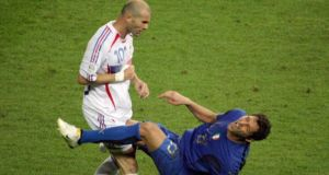 Zinedine Zidane  after head-butting Italian defender Marco Materazzi.  Photograph: Getty Images