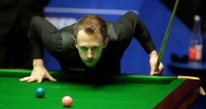 Judd Trump: turned on the style to see off Ricky Walden, winning five of the last six frames.  Photograph:  Richard Sellers/PA