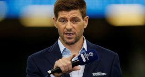 Steven Gerrard is likely to press the Rangers board over the finances available to him should he take over a club who are third in the Premiership. Photograph: Carl Recine/Reuters