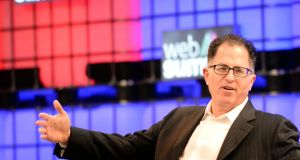 Michael Dell speaking at the Web Summit in Dublin in 2015. Photograph: Eric Luke / The Irish Times