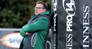 Departing Connacht head coach Kieran Keane:  In his own quirky way, he clearly cared passionately about the province. Photograph: Dan Sheridan/Inpho