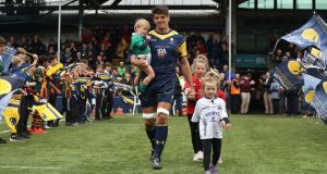 Donncha O'Callaghan of Worcester Warriors walks out onto the pitch at Sixways Stadium. Photograph: David Rogers/Getty Images
