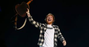 Ed Sheeran on the opening night of his Australian tour,  at Optus Stadium in Perth, Australia, in March. Photograph: Paul Kane/Getty Images