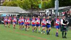 New York take to the field ahead of their  Connacht  championship match with   Sligo last year. Photograph: Andy Marlin/Inpho