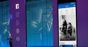Facebook chief executive Mark Zuckerberg speaks about a dating feature at Facebook Inc's annual F8 developers conference in San Jose, California. Photograph: Stephen Lam/Reuters