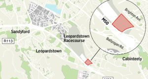 Horse Racing Ireland owns two sites next to Leopardstown Racecourse that  jointly comprise about 18 hectares