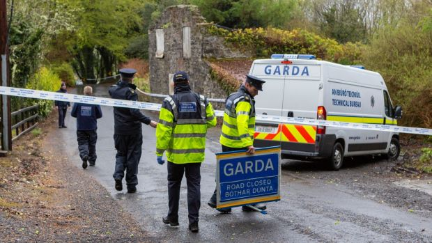 Gardaí carrying out searches for evidence regarding missing woman Natalia Karaczyn earlier on Tuesday after a body was found in Carns, Co Sligo. Photograph: Donal Hackett