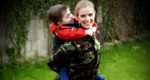Aoife Curran, with son Oliver (3)