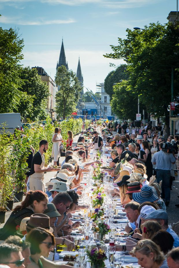 Cork's long table dinner is catered by 10 restaurants in the city. Photograph: Joleen Cronin