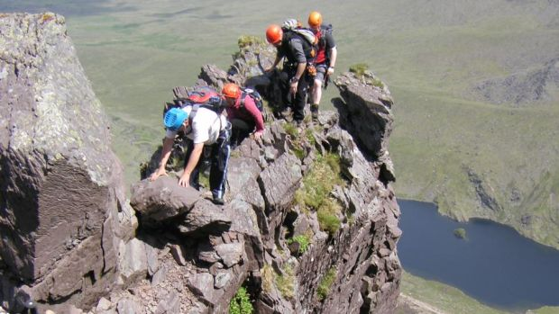 Howling Ridge: To ascend the ridge safely you need training, and this is provided by local company Kerry Climbing.