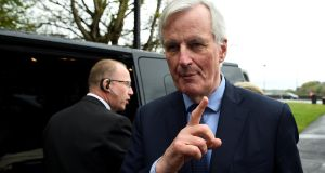 Michel Barnier, the EU's chief Brexit negotiator: there is danger the tough line of support for Ireland could leave us badly off if the Brexit talks go wrong. Photograph: Clodagh Kilcoyne/Reuters