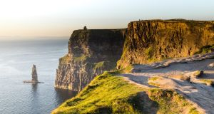 Cliffs of Moher in Co Clare. Temperatures on Tuesday are set to reach 20 or 21 degrees in the west. Photograph: Getty Images