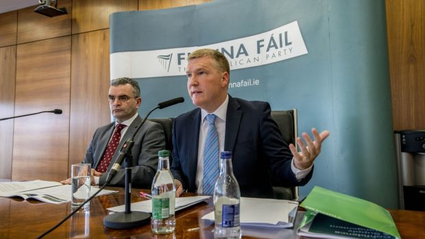 Fianna Fáil deputy leader Dara Calleary and finance spokesman Michael McGrath are among those calling for the upcoming referendum to be defeated. File photograph: Brenda Fitzsimons/The Irish Times