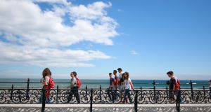 Bray seafront which is often filled with locals and visitors on sunny days. Photograph: Nick Bradshaw