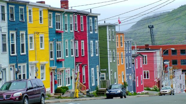Colourful houses in St John's, Newfoundland, Canada