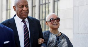 Actor and comedian Bill Cosby arrives with his wife Camille for a sexual assault trial at the Montgomery County Courthouse in Norristown, Pennsylvania, US, June 12th, 2017. File photograph: Brendan McDermid/Reuters