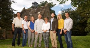 Rural interconnection scheme: Paul, Richard, Christine, Mark, Wendy, Ed, Heather and Peter in BBC Two's Love in the Countryside. Photograph: Pete Dadds