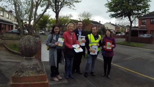 Abortion referendum: Yes canvassers in Porter's Gate in Clonsilla, in the Dublin West constituency