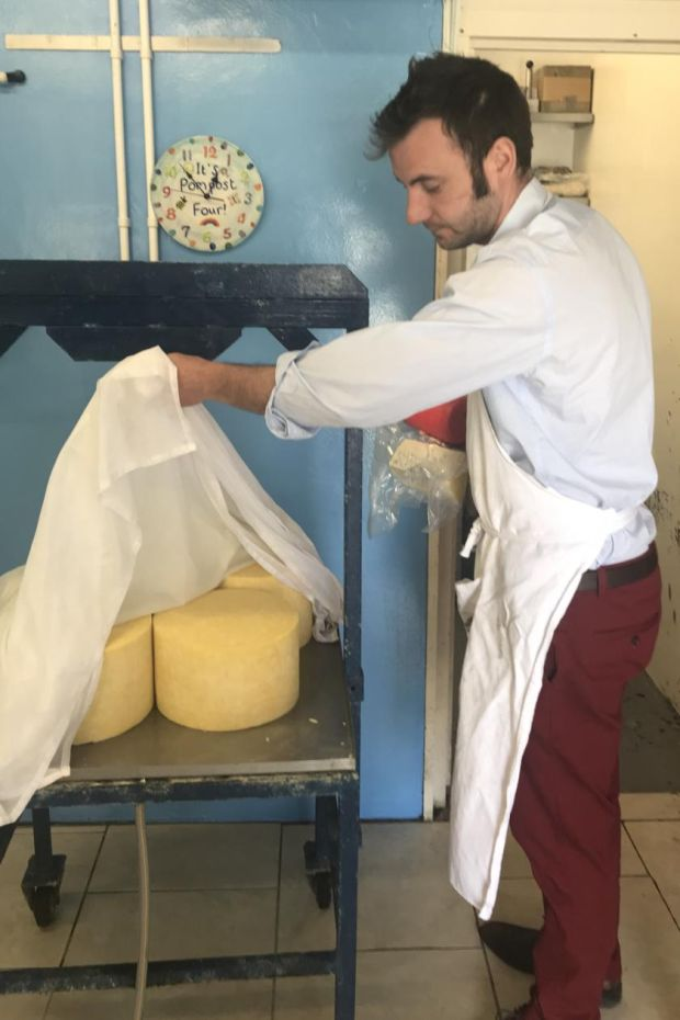 Cheesemaker Sean Dempsey of Knockatee Cheese