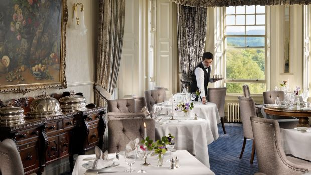 The dining room at the Park Hotel Kenmare