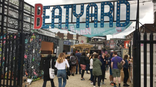 The Eatyard outdoor food market on South Richmond St