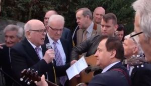 Video of huge singalong at Big Tom's funeral goes viral