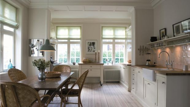 Kitchen featuring Farrow & Ball Strong White