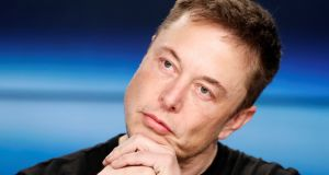 "Elon Musk refused to answer ""boring bonehead questions"" from analysts. Photograph: Joe Skipper/Reuters."