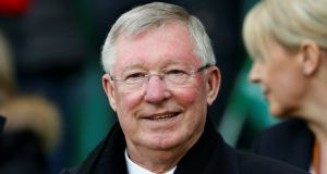 Alex Ferguson in the stands during a Manchester United match last year. Photograph: Andrew Boyers/Reuters