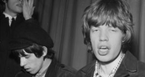 Keith Richards and Mick Jagger at a press conference before performing at the Adelphi in Dublin in 1965. Photograph: Dermot Barry