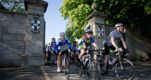 Willow Wheelers set off on their 29th annual 100-mile cycle, from  Blackrock to Kinnegad and back again. Photograph: Tom Honan.
