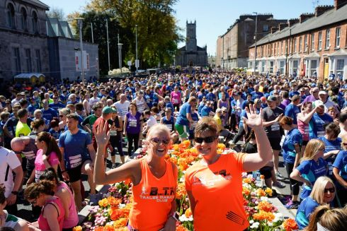 Caroline McConnell and Marilyn O'Shea from Tralee pictured at the 9th Annual Bon Secours Hospital Great Limerick Run Pic: Don Moloney