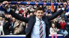 Steven Gerrard at Ibrox: Rangers fans are ecstatic that someone with his profile is joining them when other, perhaps better-informed managers have turned them down. Photograph: Ian MacNicol/Getty