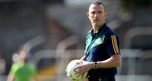 Meath boss Andy McEntee is looking forward to a potential Leinster championship clash with Dublin. Photograph: Ryan Byrne/Inpho