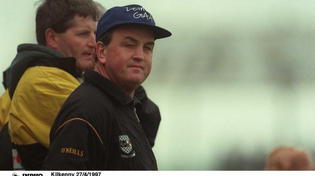 Kilkenny manager Nickey Brennan watches as Dublin rattle Kilkenny at Croke Park in 1997. Photograph: Patrick Bolger/Inpho