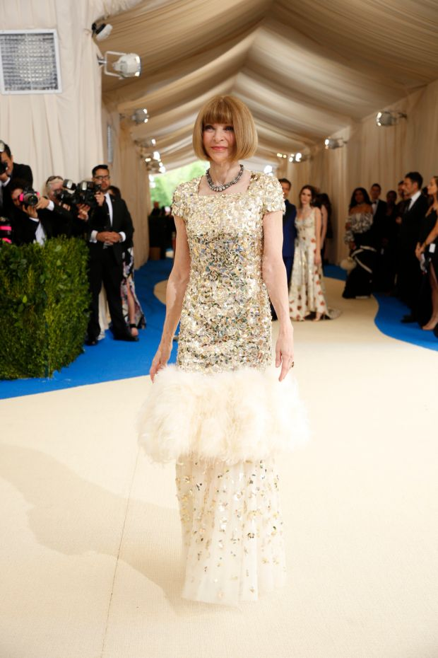 Anna Wintour, one of the hosts of this year's Met Gala, at last year's extravaganza. Photograph: Benjamin Norman/The New York Times