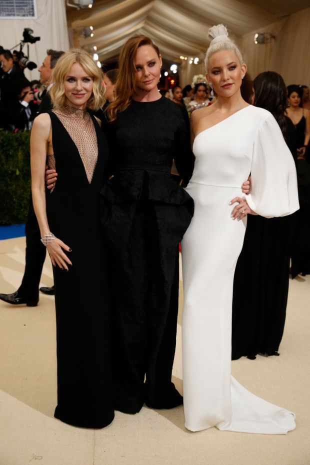 Naomi Watts, Stella McCartney and Kate Hudson at last year's Met Gala. Photograph: Benjamin Norman/The New York Times