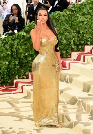 Kim Kardashian West attending the Metropolitan Museum of Art Costume Institute Benefit Gala in New York. Photograph: Ian West/PA Wire