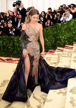 Gigi Hadid attending the Met Gala. Photograph: Ian West/PA Wire