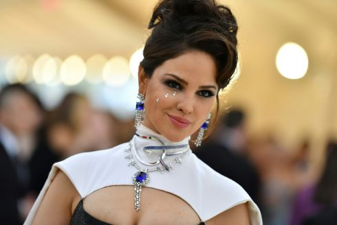 Eiza Gonzalez arrives for the 2018 Met Gala. Photograph: Getty Images