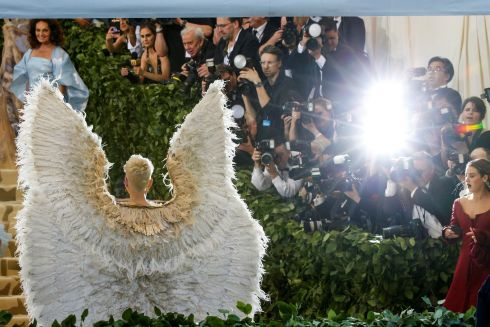 Katy Perry arrives at the Met Gala. Photograph: Reuters